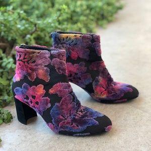 Stuart Weitzman Bacari Botanic Ombre Brocade Boots